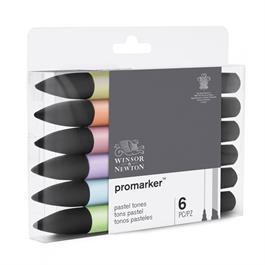 Winsor & Newton ProMarker 6 Pastel Tones Thumbnail Image 2