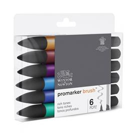Winsor & Newton ProMarker Brush Set of 6 Rich Tones Thumbnail Image 4