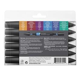 Winsor & Newton ProMarker Brush Set of 6 Rich Tones Thumbnail Image 2