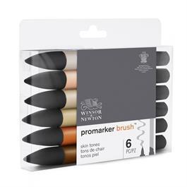 Winsor & Newton ProMarker Brush Set of 6 Skin Tones Thumbnail Image 4