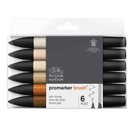 Winsor & Newton ProMarker Brush Set of 6 Skin Tones thumbnail