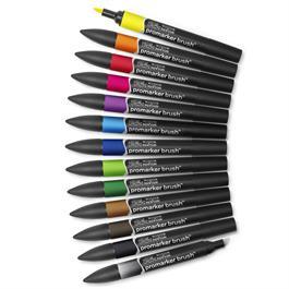 Winsor & Newton ProMarker Brush 12 Vibrant Set Thumbnail Image 1