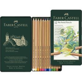 Faber Castell Pitt Pastel Pencil Tin of 12 Thumbnail Image 1