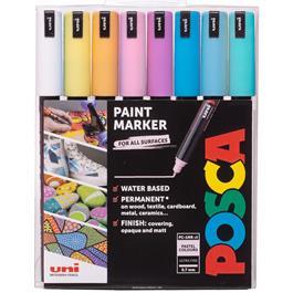 POSCA PC-1MR Pastel Pack 8 Pens thumbnail