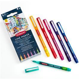 Derwent Line Maker Colour Set Of 6 thumbnail