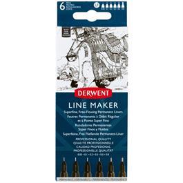 Derwent Line Maker Black Set Of 6 thumbnail