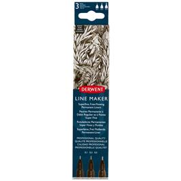 Derwent Line Maker Black Set Of 3 thumbnail