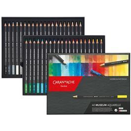 Caran d'Ache Museum Aquarelle Pencils - 40 Assorted Set Thumbnail Image 1