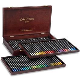 Caran d'Ache Wooden Box Of 76 Museum Aquarelle Pencils thumbnail