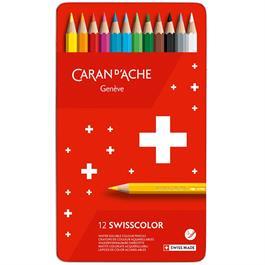 Caran d'Ache Swisscolor Pencils Tin Of 12 thumbnail