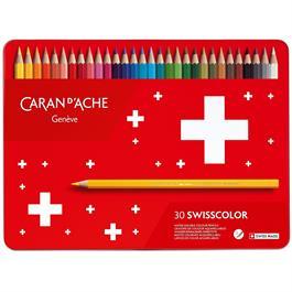 Caran d'Ache Swisscolor Pencils Tin Of 30 thumbnail