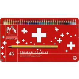 Caran d'Ache Swisscolor Pencils Tin Of 40 thumbnail