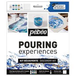 Pebeo Pouring Acrylic Discovery Kit 4 x 59ml & Silicone Oil Thumbnail Image 0