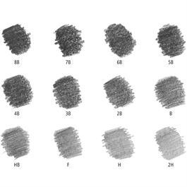 Staedtler Mars Lumograph Pencil - Tin of 12 soft degrees Thumbnail Image 2