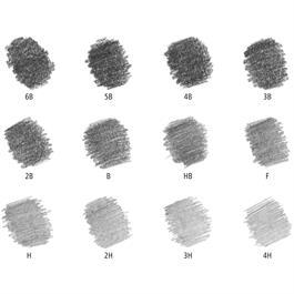 Staedtler Mars Lumograph Pencil - Tin of 12 medium degrees Thumbnail Image 2