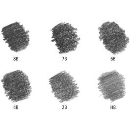 Staedtler Mars Lumograph Pencil Tin of 6 (8B, 7B, 6B, 4B, 2B and HB) Thumbnail Image 1