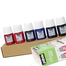 Pebeo Vitrea 160 Glossy Initiation Set 6 x 20ml No.2 Colours Thumbnail Image 2