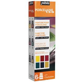 Pebeo Porcelaine 150 Glossy Initiation Set 6 x 20ml No.2 Colours thumbnail