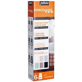 Pebeo Porcelaine 150 Initiation Set 6 x 20ml Chalk Colours thumbnail