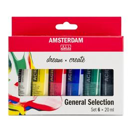 Amsterdam Acrylic General Selection Set 6x20ml thumbnail