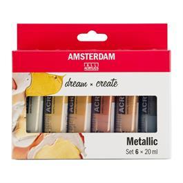 Amsterdam Acrylic Metallics 6x20ml thumbnail