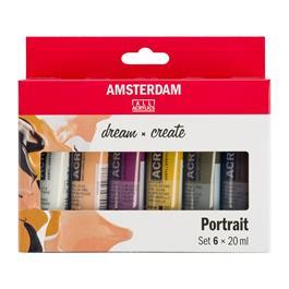 Amsterdam Acrylic Portrait Colours 6x20ml thumbnail