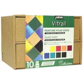 Pebeo Vitrail Collection Set 10 x 45ml thumbnail