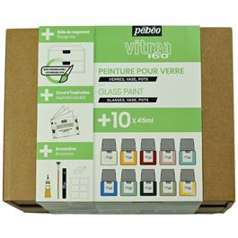 Pebeo Vitrea 160 Collection Set 10 x 45ml No.2 Colours Thumbnail Image 1