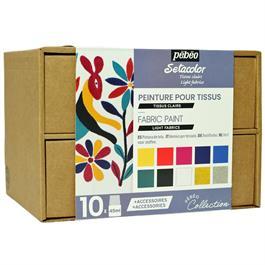 Pebeo Setacolor Light Collection Set 10 x 45ml thumbnail