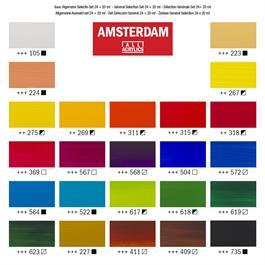 Amsterdam All Acrylic Standard Set 24x20ml Thumbnail Image 2