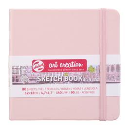 Sketchbook 12x12cm Pastel Pink thumbnail
