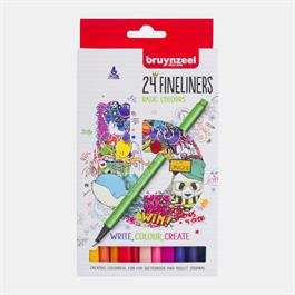 Bruynzeel Fineliner 24 Basic Colour Set thumbnail