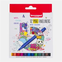 Bruynzeel Fineliner Mini 12 Basic Colour Set thumbnail