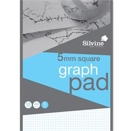 Silvine Professional Graph Pad A4 5mm Square Grid thumbnail