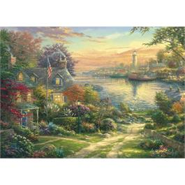 New England Harbour Jigsaw 1000 pieces  Thumbnail Image 1