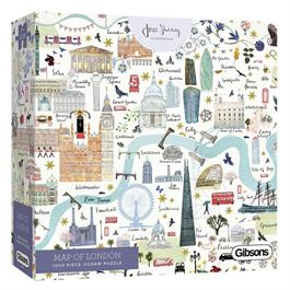 Map Of London Jigsaw 1000pc Thumbnail Image 0