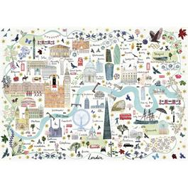 Map Of London Jigsaw 1000pc Thumbnail Image 1