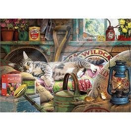Snoozing in the Shed Jigsaw 1000pc Thumbnail Image 1
