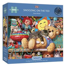 Snoozing on the Ted Jigsaw 1000pc thumbnail