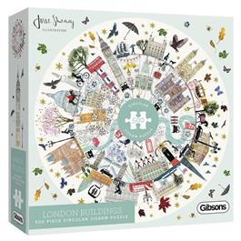 London Buildings Jigsaw 500pc (CIRCULAR) Thumbnail Image 0