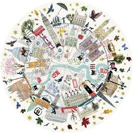 London Buildings Jigsaw 500pc (CIRCULAR) Thumbnail Image 1