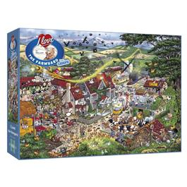 I Love the Farmyard Jigsaw 1000pc Thumbnail Image 0