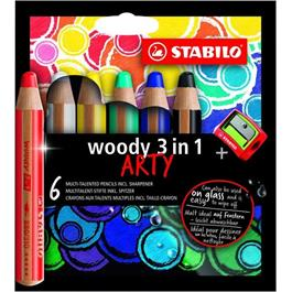 STABILO Woody Pencils Pack of 6 + Sharpener thumbnail