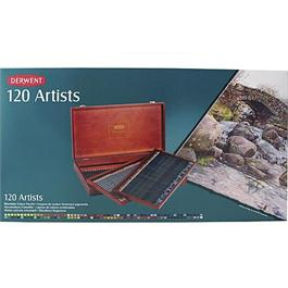 Derwent Artists' Pencils Wooden Box of 120 Thumbnail Image 1