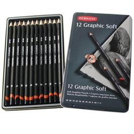 Derwent Graphic Pencils Soft (Sketching) Tin of 12 thumbnail