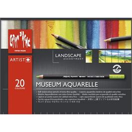 Caran d'Ache Museum Aquarelle Pencils - 20 Landscape Assortment Set thumbnail