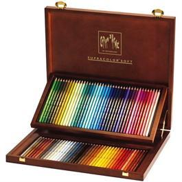Caran D'ache Wooden Box Of 80 Supracolor Pencils thumbnail