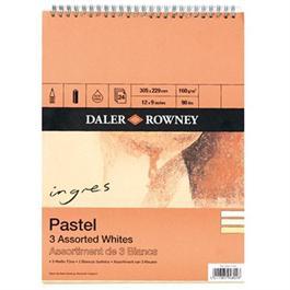 """Daler Rowney Ingres Spiral 3 Assorted Whites 9x6"""" thumbnail"""