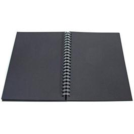 Daler Rowney Black Paper Hard Back Spiral Sketch Book thumbnail