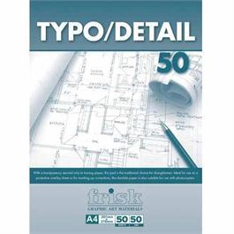A4 Frisk Typo Detail Pad 50gsm thumbnail
